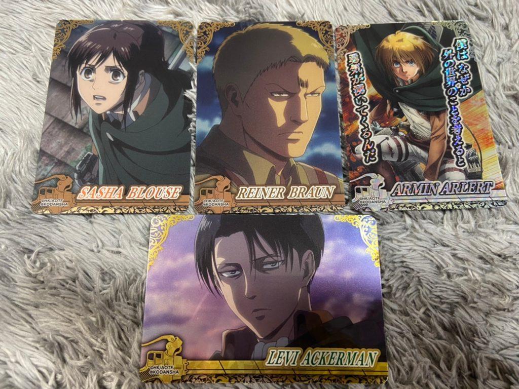 進撃の巨人コレクターズカード!!