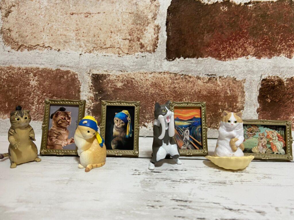 猫と有名絵画のコラボ!!ガチャガチャにゃんこミュージアム!!